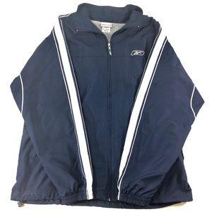 Reebok Jacket ZIP Up Navy Blue Coat Size US Large